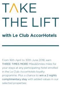 mehr Miles & More Meilen sammeln: Dreifache Miles & Smiles Meilen bei Le Club AccorHotels