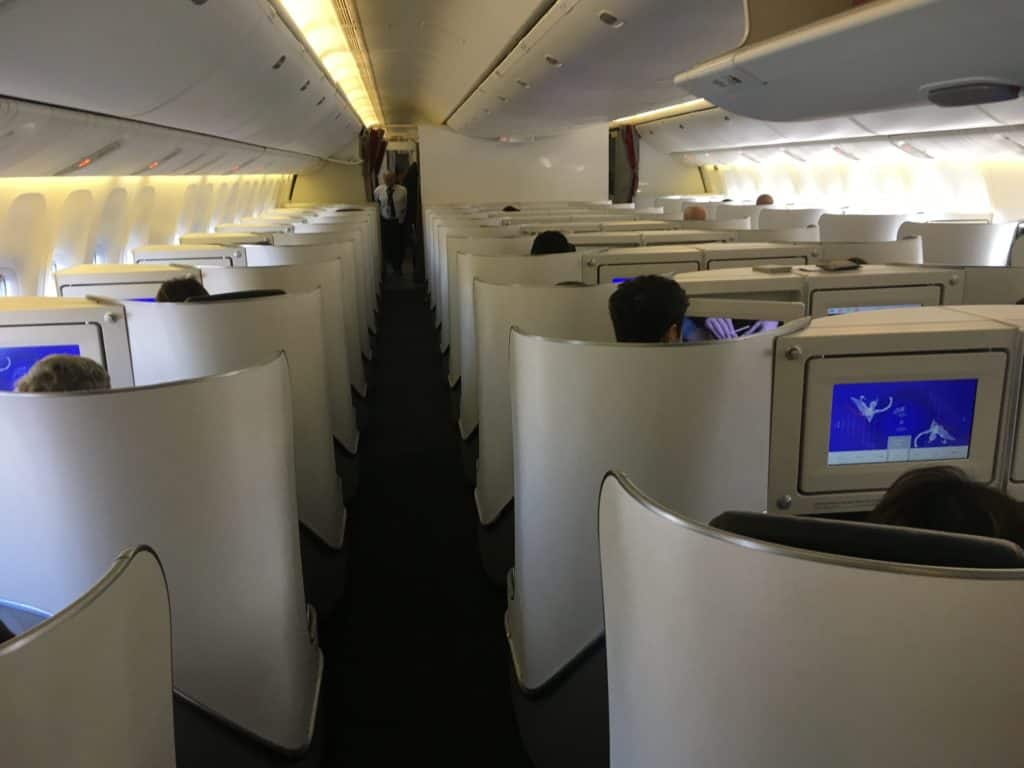 Flying Blue Meilen sammeln: Air France 777 Business Class