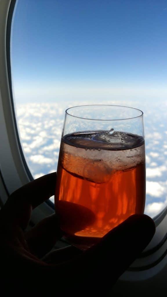 Executive Club Status; Getränke hoch über den Wolken